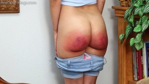 Real Spankings - A Proper Whoopin' After Getting Paddled At School - image 1