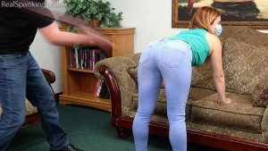 Real Spankings - Nina's 2 Part Belt Test (part 1 Of 2) - image 1