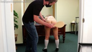 Real Spankings Institute - Kiki: Strapped & Paddled By The Dean (part 2) - image 1