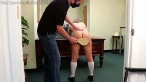 Real Spankings Institute - Kiki: Strapped & Paddled By The Dean (part 2) - image 9