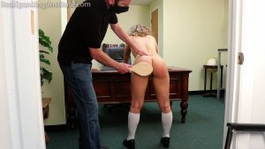 Real Spankings Institute - Kiki: Strapped & Paddled By The Dean (part 2) - image 3