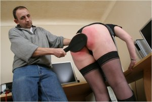 Spanked Cheeks - Tara Spanked For Surfing The Net - image 1