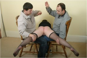 Spanked Cheeks - Double Spanking For Vicky - image 7