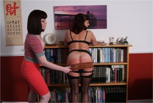 Spanked Cheeks - Playing With The Maid - image 9